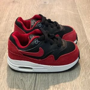 New Nike Toddler's Air Max Red/Black 609371-048